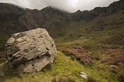 Llyn Idwal Prints - The Rock Print by John Hallett
