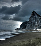 Grey Clouds Framed Prints - The Rock ... Framed Print by Juergen Weiss