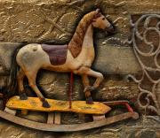 Saddle Mixed Media Posters - The Rocking Horse Poster by Bob Salo