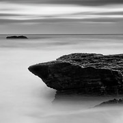 Black And White Photography Metal Prints - The Rocks And The Ocean Metal Print by Ivan Makarov, San Jose, CA