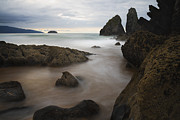 Atardecer Prints - The rocks of Laga beach Print by Fernando Alvarez