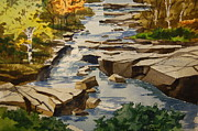 Fall Scenes Paintings - The Rocky by Bill Dinkins