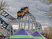 Roller Coaster Photos - The Roller Coaster by Linda Pulvermacher