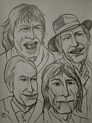 Ed Sullivan Drawings - The Rolling Stones by Pete Maier
