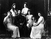 Russian Revolution Framed Prints - The Romanovs, Russian Tsar With Family Framed Print by Science Source