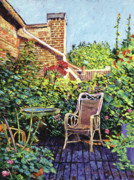 Wicker Furniture Posters - The Roof Garden Poster by David Lloyd Glover
