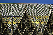 Patterned Photo Posters - The roof of St Stephens Poster by Taylor S. Kennedy