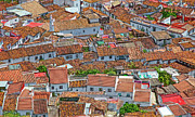 Typical Framed Prints - The Roofs Of Jimena Framed Print by Piet Scholten