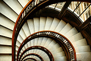 Spiral Staircase Metal Prints - The Rookery Spiral Staircase Metal Print by Ely Arsha