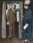 Democratic System Posters - The Roosevelts Voting Poster by Granger