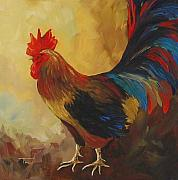 Hen Paintings - The Rooster II  by Torrie Smiley
