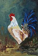Hen Paintings - The Rooster IV  by Torrie Smiley