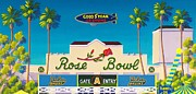 Ucla Posters - The Rose Bowl Poster by Frank Strasser
