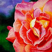 Salmon Paintings - The Rose by Melanie Cossey