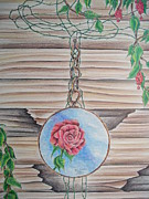 Dreamcatcher Drawings - ...the Rose by Tom Rechsteiner