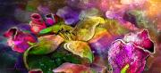 Art Miki Posters - The Roses in The Sheep Dream Poster by Miki De Goodaboom