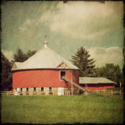 Wooden Fence Posters - The Round Barn Poster by Joel Witmeyer
