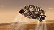 Rocket Boosters Prints - The Rover And Descent Stage For Nasas Print by Stocktrek Images