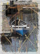 Pier Digital Art - The Rowboat by Tim Allen