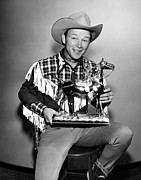 Statue Portrait Prints - The Roy Rogers Show, Roy Rogers Print by Everett