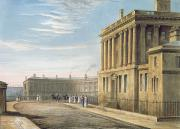 Village Scenes Prints - The Royal Crescent Print by David Cox