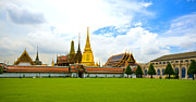 Asian Landscape Posters - The Royal Grand Palace Bangkok Thailand Poster by Charuhas Images
