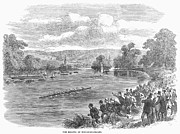 Spectator Prints - The Royal Henley Regatta at Henley-on Thames. Wood engraving, English, 1869 Print by Granger