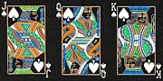Playing Cards Framed Prints - The Royal Spade Family Framed Print by Wingsdomain Art and Photography