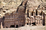 The Royal Tombs Petra, Jordan Print by Marco Brivio