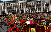 Horse And Cart Posters - The Royal wedding  Poster by Karen Elzinga