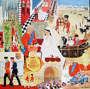 Queen Elizabeth Paintings - The Royal Wedding by Pat Barker