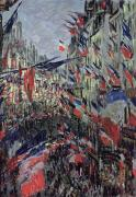 Parade Painting Prints - The Rue Saint Denis Print by Claude Monet