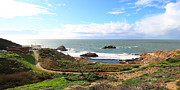 Bath House Posters - The Ruins of Sutro Baths in San Francisco  . 40D4312 . Long Cut Poster by Wingsdomain Art and Photography