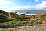 Adolph Posters - The Ruins of Sutro Baths in San Francisco  . 40D4312 Poster by Wingsdomain Art and Photography