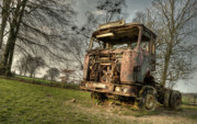 Erf Framed Prints - The Rusting Rig Framed Print by Rob Hawkins