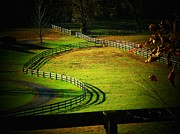 Northern Virginia Photos - The S Fence by Joyce  Kimble Smith