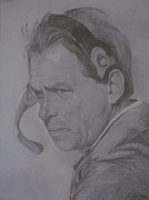 Pro Football Drawings Posters - The Saban Look Poster by Sheila Gunter