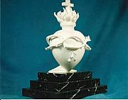 Still Life Sculptures - The Sacred Heart of Jesus by Depasquale Sculptures