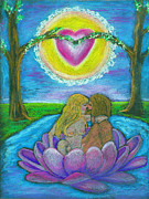 Sacred Pastels Posters - The Sacred Marriage Poster by Diana Haronis