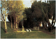 Arnold Framed Prints - The Sacred Wood Framed Print by Arnold Bocklin