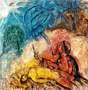 Chagall Posters - The Sacrifice Of Isaac Poster by Granger