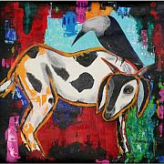 Goat Painting Originals - The Sacrifice by Sumita Acharya