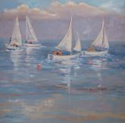 Cape Cod Paintings - The Sailing Lesson by Barbara Hageman