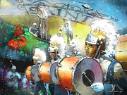 Saints Digital Art Posters - The Saints Parade in New Orleans 2010 01 Poster by Miki De Goodaboom