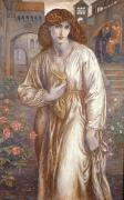 Dante Paintings - The Salutation  by Dante Charles Gabriel Rossetti