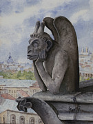 Gargoyle Framed Prints - The Same Old Thing Framed Print by Sam Sidders