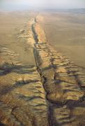 Fault Prints - The San Andreas Fault Slashes Print by James P. Blair