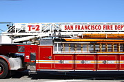 Fire Fighters Prints - The San Francisco Fire Department Fire Engine . 7D14210 Print by Wingsdomain Art and Photography