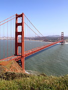 Historic Bridges Art Prints - The San Francisco Golden Gate Bridge . 7D14504 Print by Wingsdomain Art and Photography