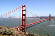 Golden Photo Framed Prints - The San Francisco Golden Gate Bridge . 7D14507 Framed Print by Wingsdomain Art and Photography